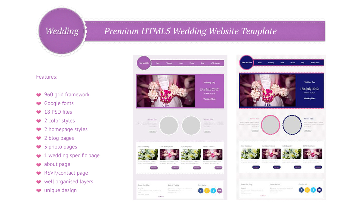 Wedding - Premium HTML5 and CSS3 Template