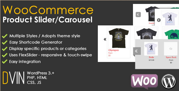 WooCommerce - WordPress Product Slider Carousel