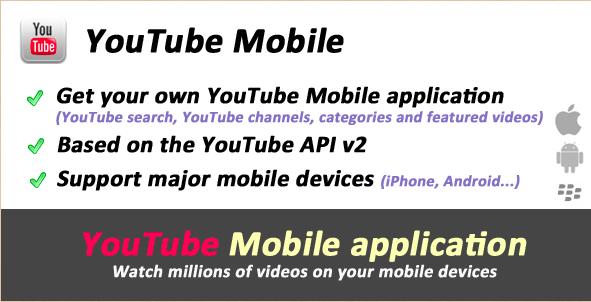 YouTube API Mobile Videos
