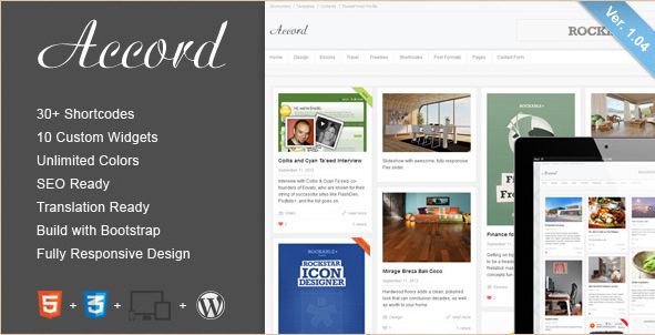 Accord - WordPress Blog Template