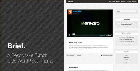 Brief - Responsive Tumblr WordPress Theme