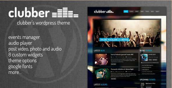 Clubber - WordPress Music Events Theme
