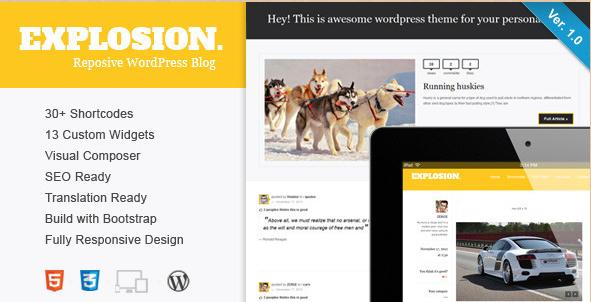 Explosion - Responsive WordPress Blog Template
