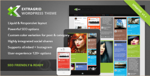 ExtraGrid - Creative WordPress Website Template