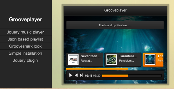 Grooveplayer - jQuery Music Player
