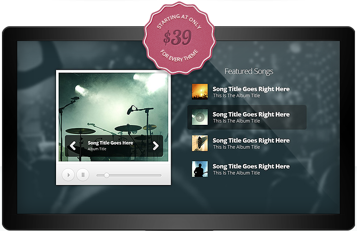 Harmony - WordPress Band Theme