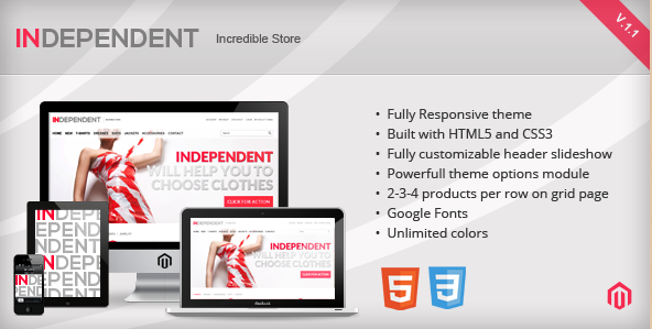 Independent - Responsive Magento Template