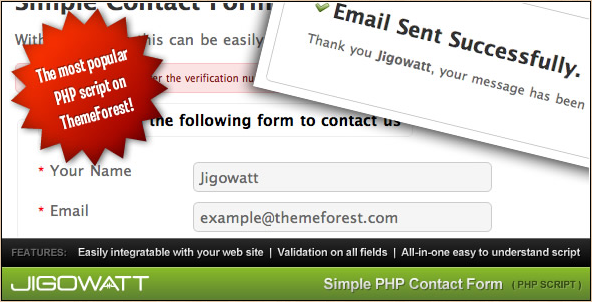Jigowatt - PHP Contact Form