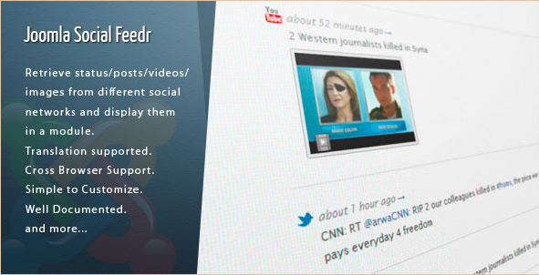 Joomla Social Feeder Extension