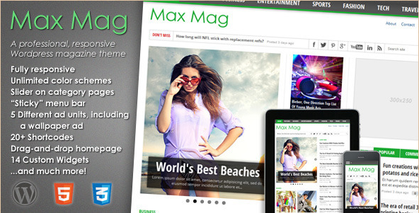 MaxMag - Responsive WordPress Magazine Theme