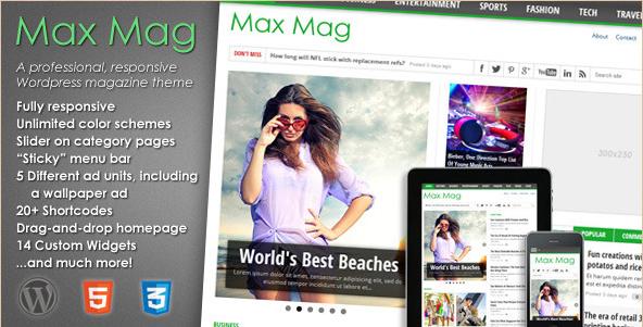 Best WordPress Magazine Themes of 2012