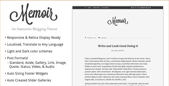 Memior - Tumblog WordPress Theme