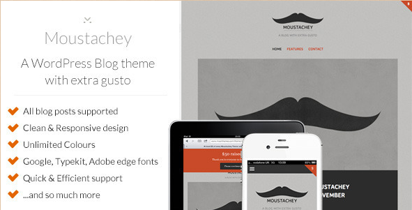 Moustachey - Blog Theme with extra gusto