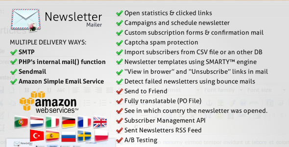 PHP Newsletter Mailer