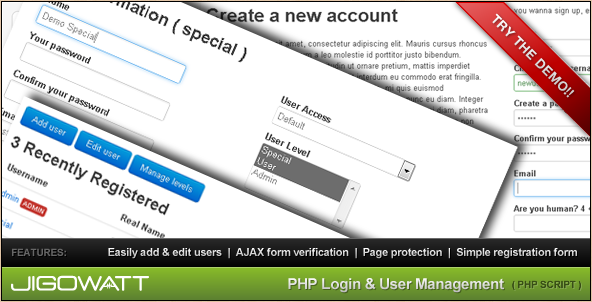 PHP User Management Script