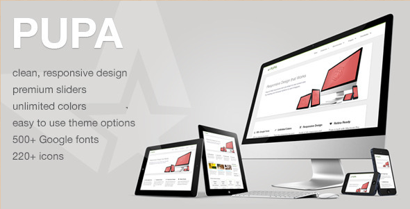 Pupa - Responsive Retina WordPress Theme