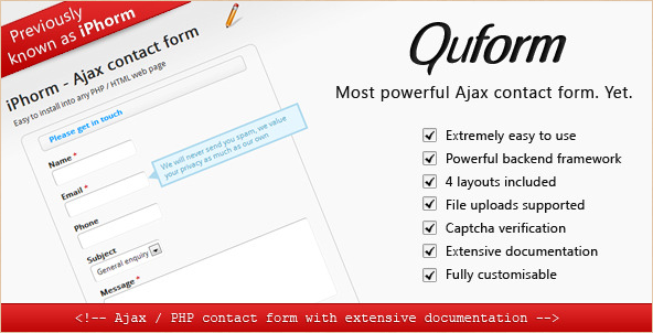 Quform - AJAX Contact Form