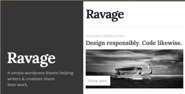Ravage - Blod WordPress Theme