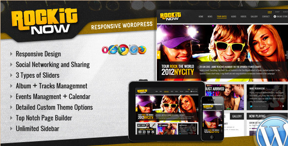 RockIt Now - Music Band WordPress Theme