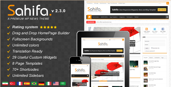 Sahifa - Responsive News Magazine WordPress Theme