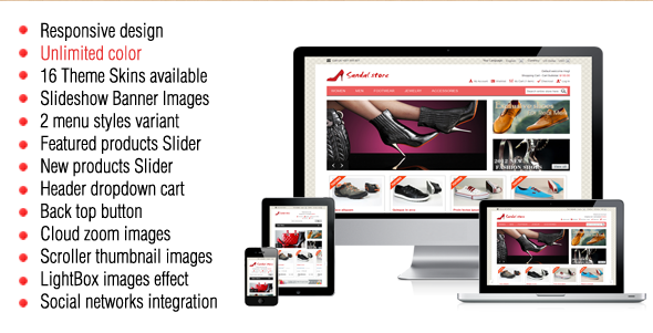 Sandal - Best Magento Template