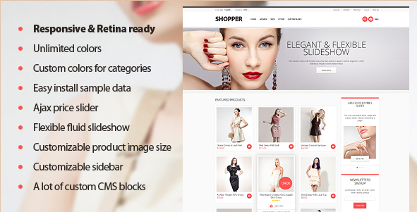 Shopper - Retina Magento Template