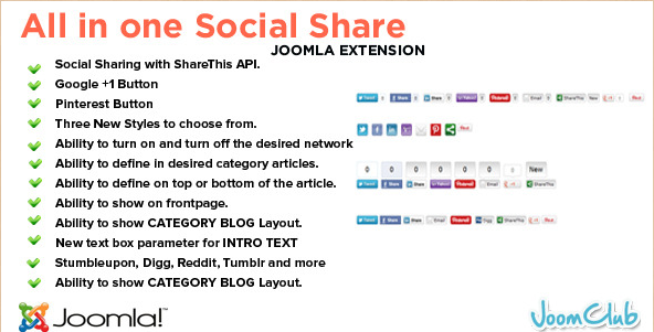 Social Share Joomla Plugin
