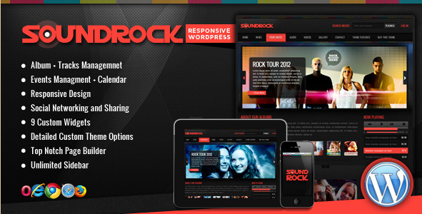 SoundRock - Music Band WordPress Theme