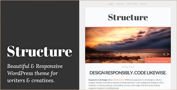 Structure - WordPress Blog Theme