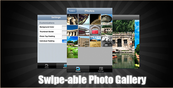 Swipeable Photo Gallery App