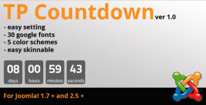TP Countdown - Joomla Plugin Extension