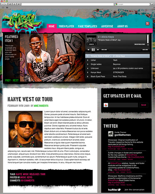Tribal Music Theme - WordPress Musician Template