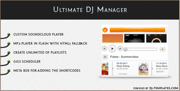 Ultimate DJ Manager - WordPress Music Plugin