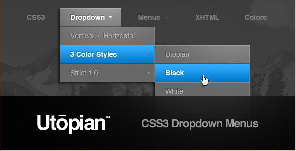 Utopian CSS Dropdown Menu