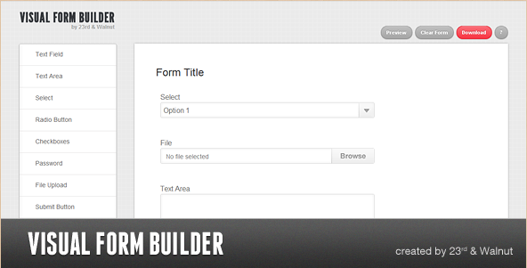 Visual Form Builder - PHP Script