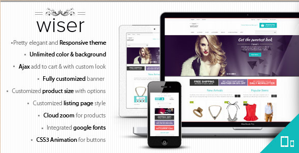Wiser - Magento Template