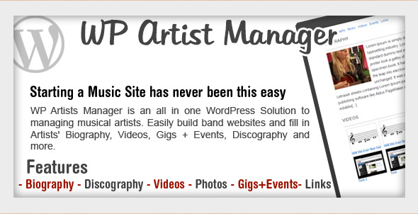 WordPress Band Manager Plugin