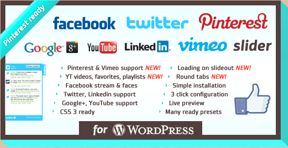 WordPress Facebook Likebox Slider