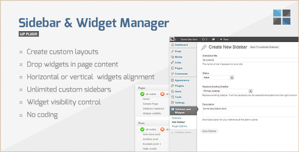 WordPress Sidebar Widget Manager Plugin