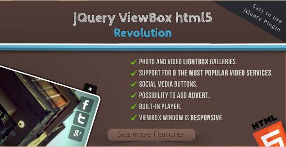 jQuery ViewBox HTML5 media browser
