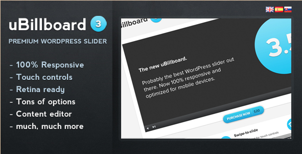 uBillboard - Premium WordPress Slider Plug-in