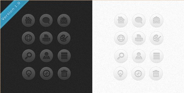 CSS3 Icon Buttons