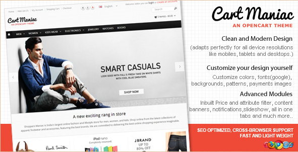 Cart Maniac - HTML5 Responsive Theme for OpenCart