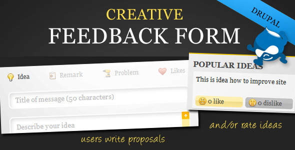 Creative Feedback Form with Voting System