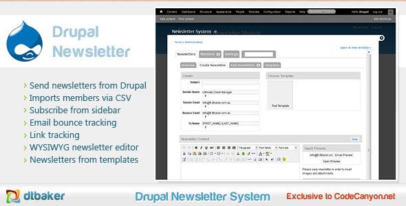 Drupal Email Newsletter Module