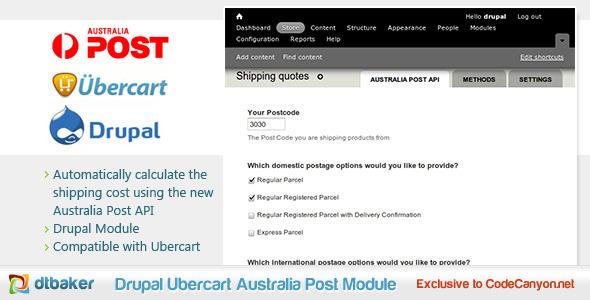 Drupal Ubercart Australia Post Module