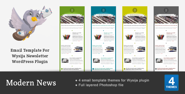 Modern News - Email Theme For Wysija Plugin