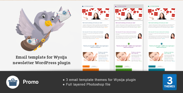 Promo - Email Theme For Wysija WP Newsletter Plugin