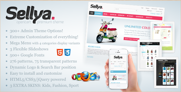 Sellya - OpenCart Themes for 2013