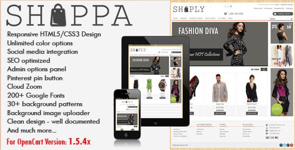 Shoppa - OpenCart Theme
